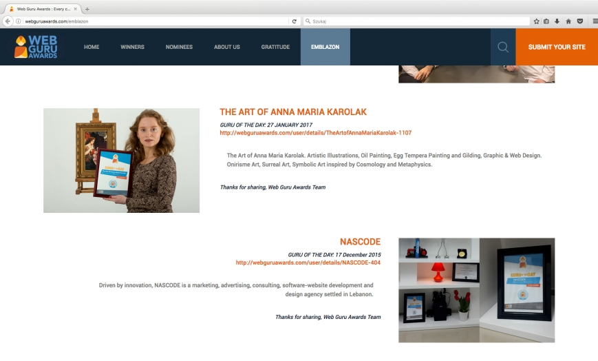 web_guru_awards_guru_of_the_day_the_art_of_anna_maria_karolak_emblazon_page
